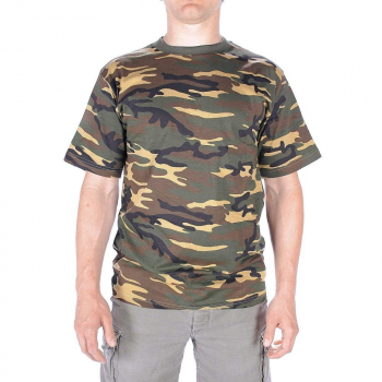 Men's camouflage t-shirt, Mil-Tec, US woodland