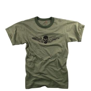 Pánské Vintage tričko s odkřídlenou lebkou, Rothco