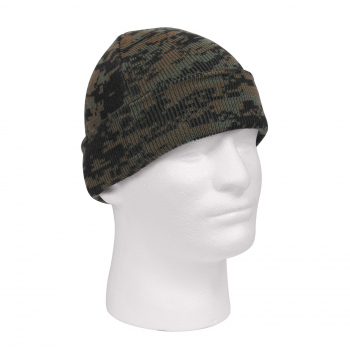 Deluxe Camo Watch Cap, Digital Woodland, Rothco