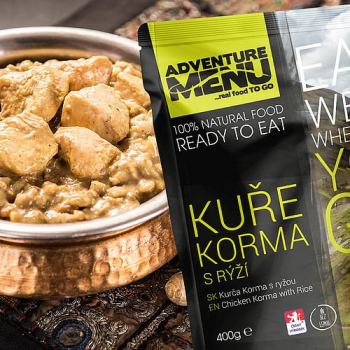 Chicken Korma with Rice, Adventure Menu