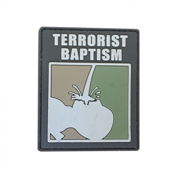 "PVC patch ""Terrorist baptism"""