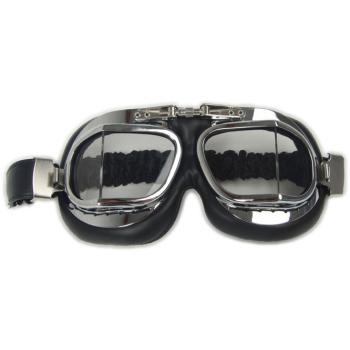 RAF aviation goggles, chrome-plated, Mil-Tec