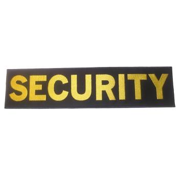 Velká nášivka Security na záda, se suchým zipem