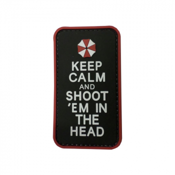 PVC nášivka  Keep Calm and Shoot 'Em