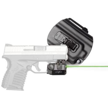 Viridian C5L, taktická svítilna s zeleným laserem + Tacloc pouzdro