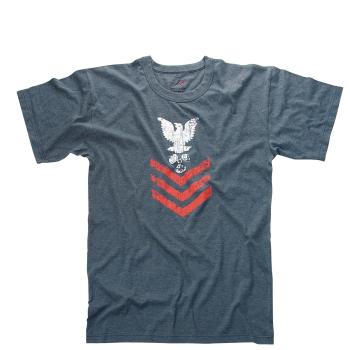 Vintage ''Naval Rank Insignia'' T-Shirt, blue, Rothco