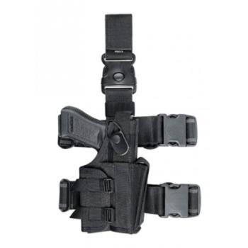 Taktické stehenní pouzdro, univerzální, se zásobníkem, černé, Dasta 657B-MFU/TZ