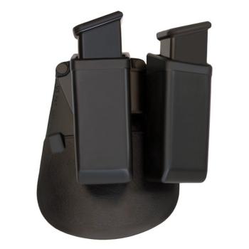 Dvojité rotační plastové pouzdro pro dva zásobníky 9 mm Luger, ESP