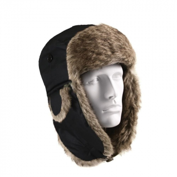 Fur Flyer's Hat, Black, Rothco