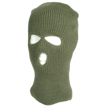Winter balaclava with three holes, olive, Mil-Tec