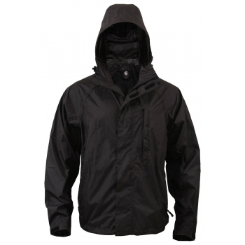 Packable Rain Jacket, Black, Rothco