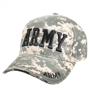 Deluxe Army Embroidered Low Profile Insignia Cap, ACU Digital, Rothco