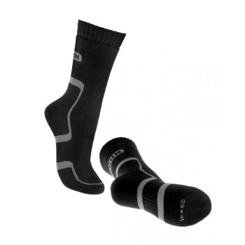 Nadkotníkové ponožky Trek černošedé, Bennon