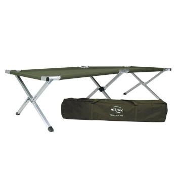 Skládací hliníkové lehátko, typ U.S. Army, olivové, Mil-Tec
