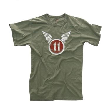 Tričko 11th Airborne Vintage, olivové, Rothco