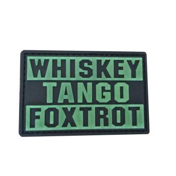 """PVC patch """"Whiskey Tango Foxtrot"""""""