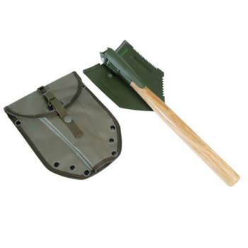Folding US field shovel with handle, olive, Mil-Tec