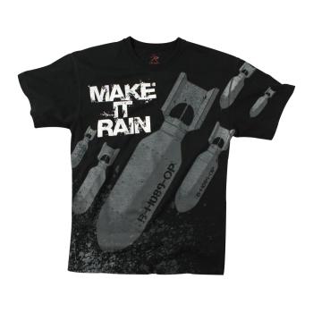 Triko Make It Rain, černé, Rothco