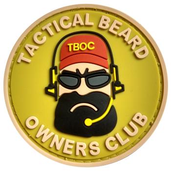 PVC nášivka Tactial Beard Owners Club