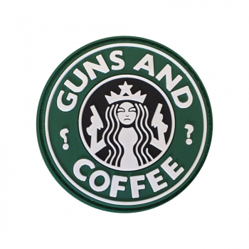 PVC nášivka Guns and Coffee