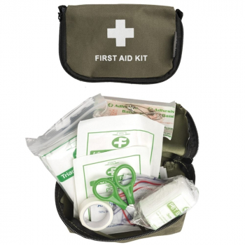 First aid kit with case, olive, Mil-Tec