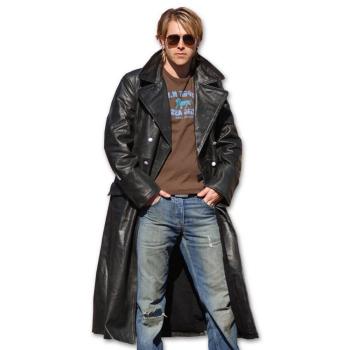 Kožený důstojnický kabát, černý, Mil-Tec