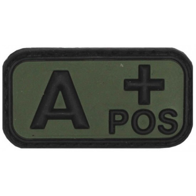 Velcro Patch - blood group A- , Green, MFH