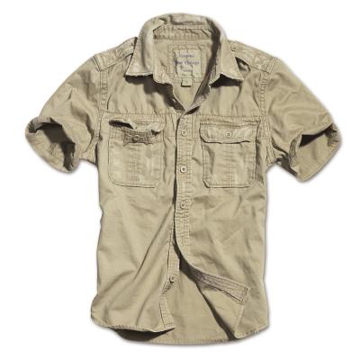 Košile Surplus Raw Vintage, krátké rukávy, khaki, XL