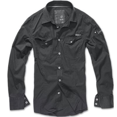 Pánská košile Brandit SlimFit Shirt, černá, M