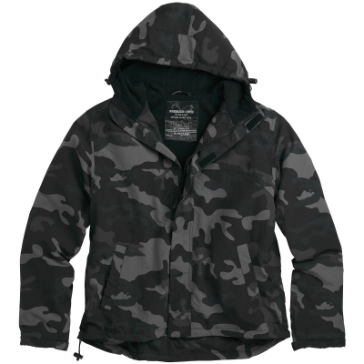 Bunda Surplus Windbreaker Zipper, blackcamo, 2XL