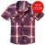 Košile Brandit Roadstar krátký rukáv, červená-modrá-bílá, L