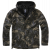 Windbreaker Jacket Brandit Frontzip, Ripstop, darkcamo, 3XL