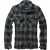 Men's shirt Check Shirt, Brandit, Black / Grey, M
