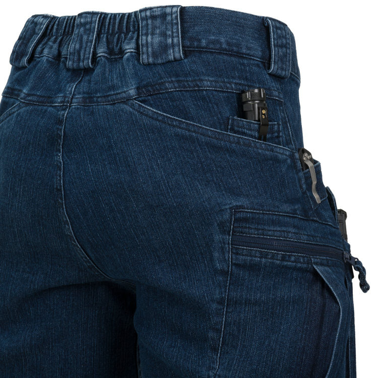 Kraťasy Helikon Urban Tactical Shorts long, Denim Stretch