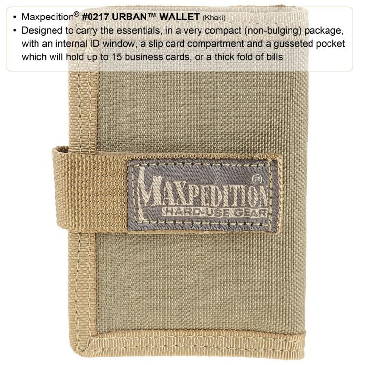 Peněženka Maxpedition Urban Wallet, černá