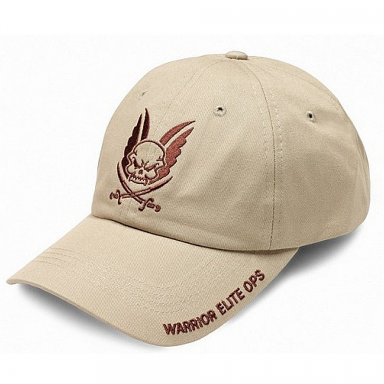 Embroided Coyote Tan Cap, Warrior