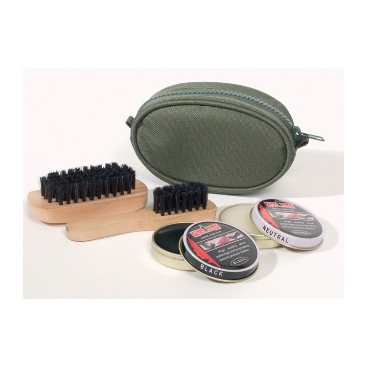 Shoe cleaning kit with case, Olive, Mil-Tec