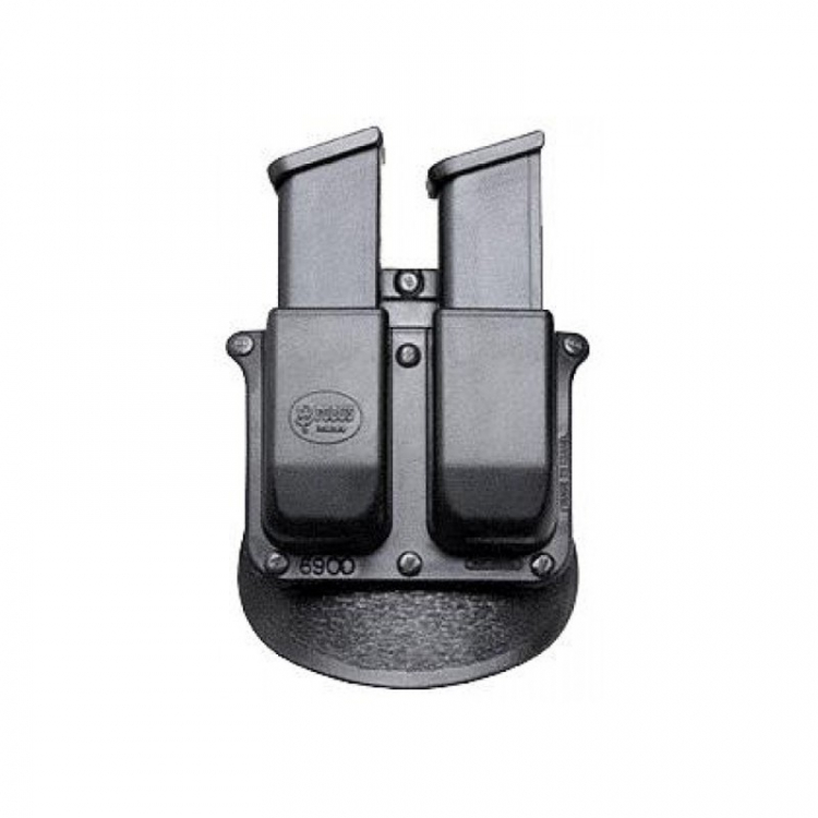 Case for 2 double-row Glock caliber trays, rotary paddle, Fobus