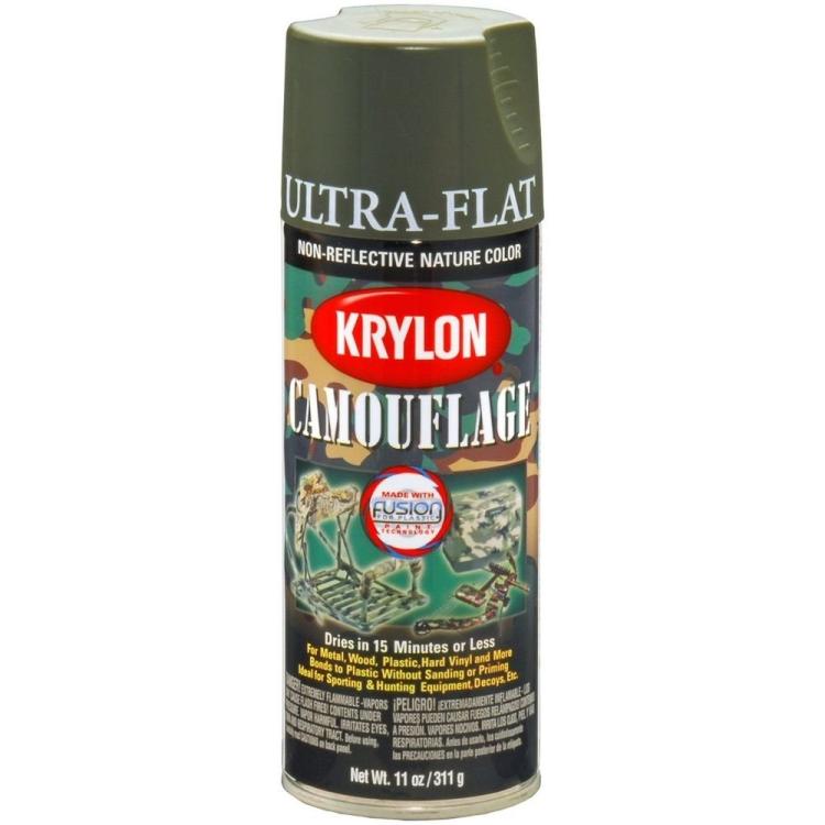 Camouflage spray paint, olive, Krylon