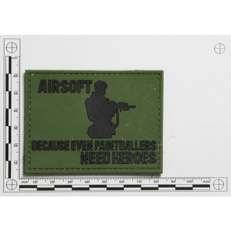 """PVC patch """"Airsoft heroes"""""""