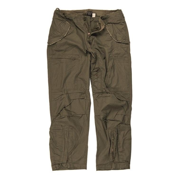 Popeline pilot pants, prewashed, Mil-Tec
