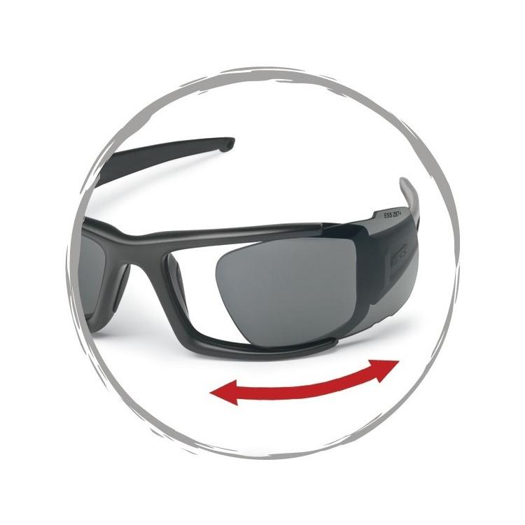Ballistic Sunglasses CDI Max Black, 2 LS, ESS