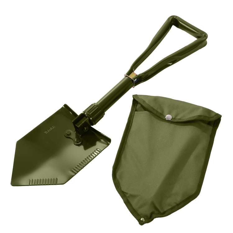 Foldable Field Shovel Deluxe, with a cover, Rothco