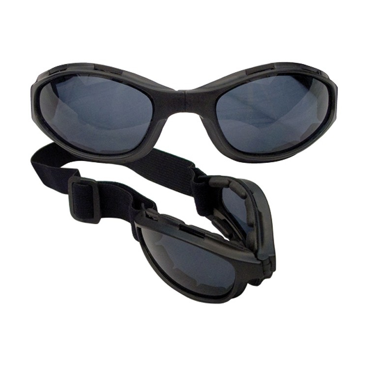Tactical folding goggles Collapsible with UV400, black, Mil-tec