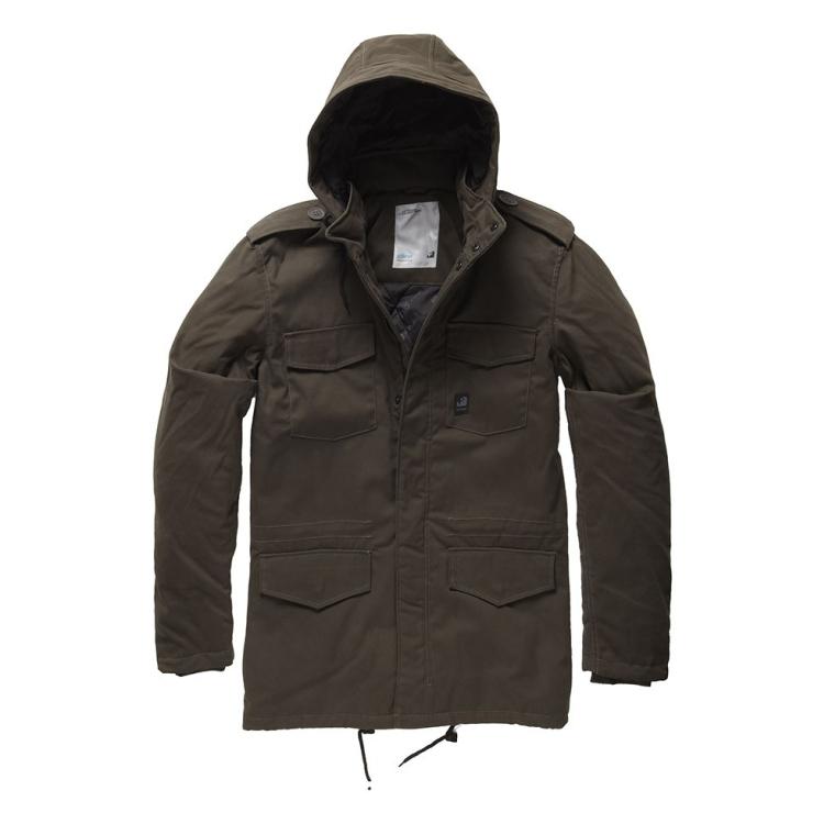 Darren parka Jacket, Dark Brown, Vintage Industries