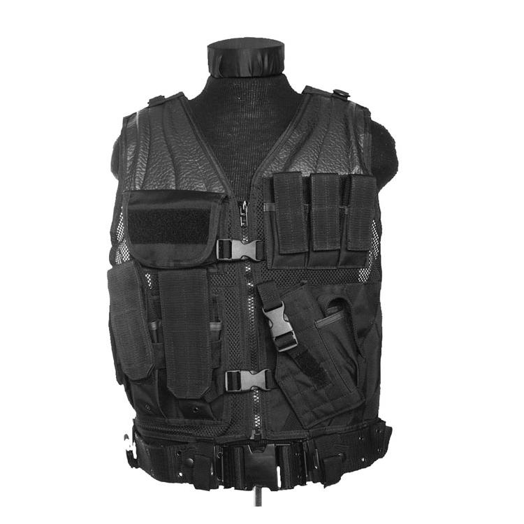 USMC tactical vest with belt, black, Mil-Tec