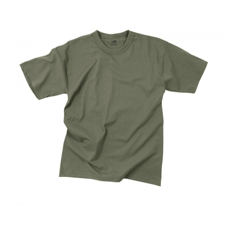 Solid Color 100% Cotton T-Shirt, Foliage Green, Rothco