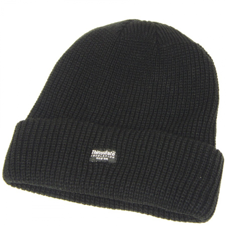 Knitted Winter Hat Thinsulate, Black, Mil-Tec