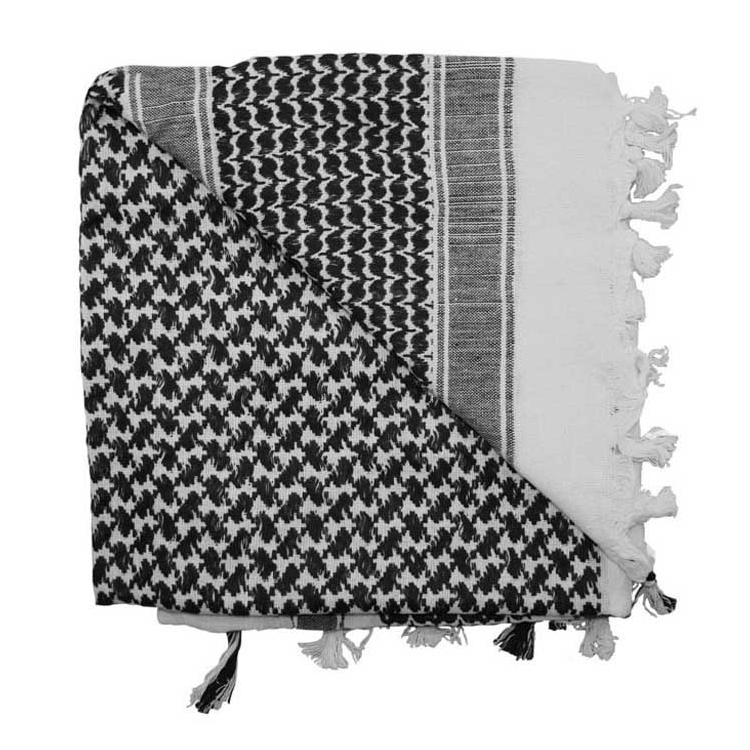 Shemagh Tactical Desert Scarf, Black-white, Rothco