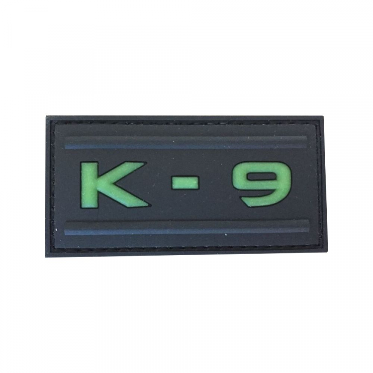 "PVC patch ""K-9"", shining"